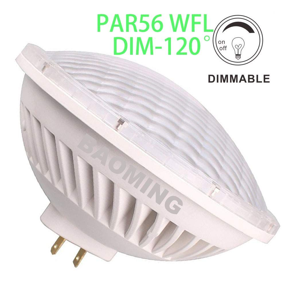 Baoming Par56 Wfl Wide Flood Light Dimmable Led Bulbs 120a Replacement 300w Par56 Warm White 2700 3000k 28w Ac120v G Led Bulb Flood Lights Halogen Lighting