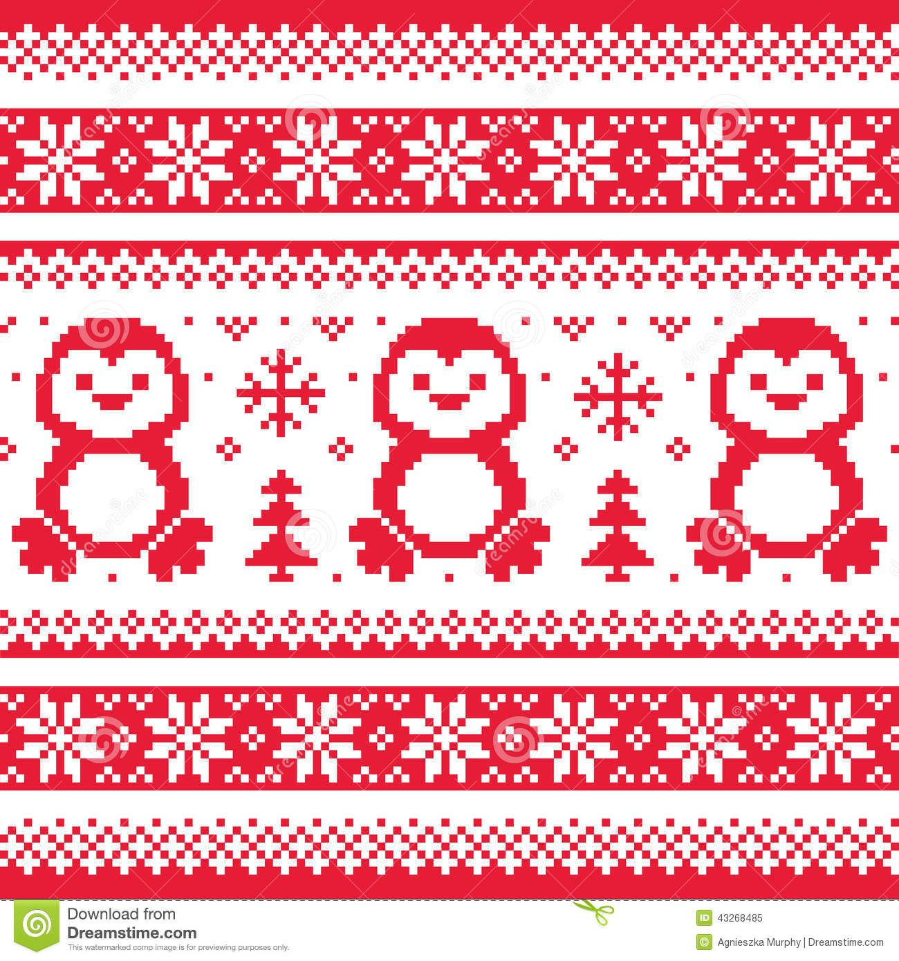 Christmas winter knitted pattern with penguins scandinavian christmas winter knitted pattern with penguins scandinavian sweater style download from over 50 bankloansurffo Images