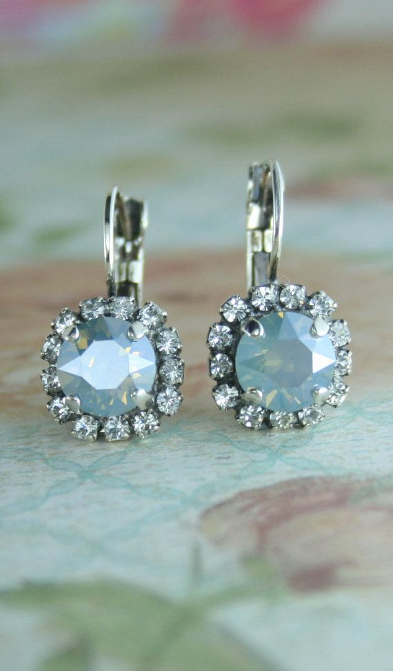 Dusty blue earrings,dusty blue bridesmaid earrings,dusty ...