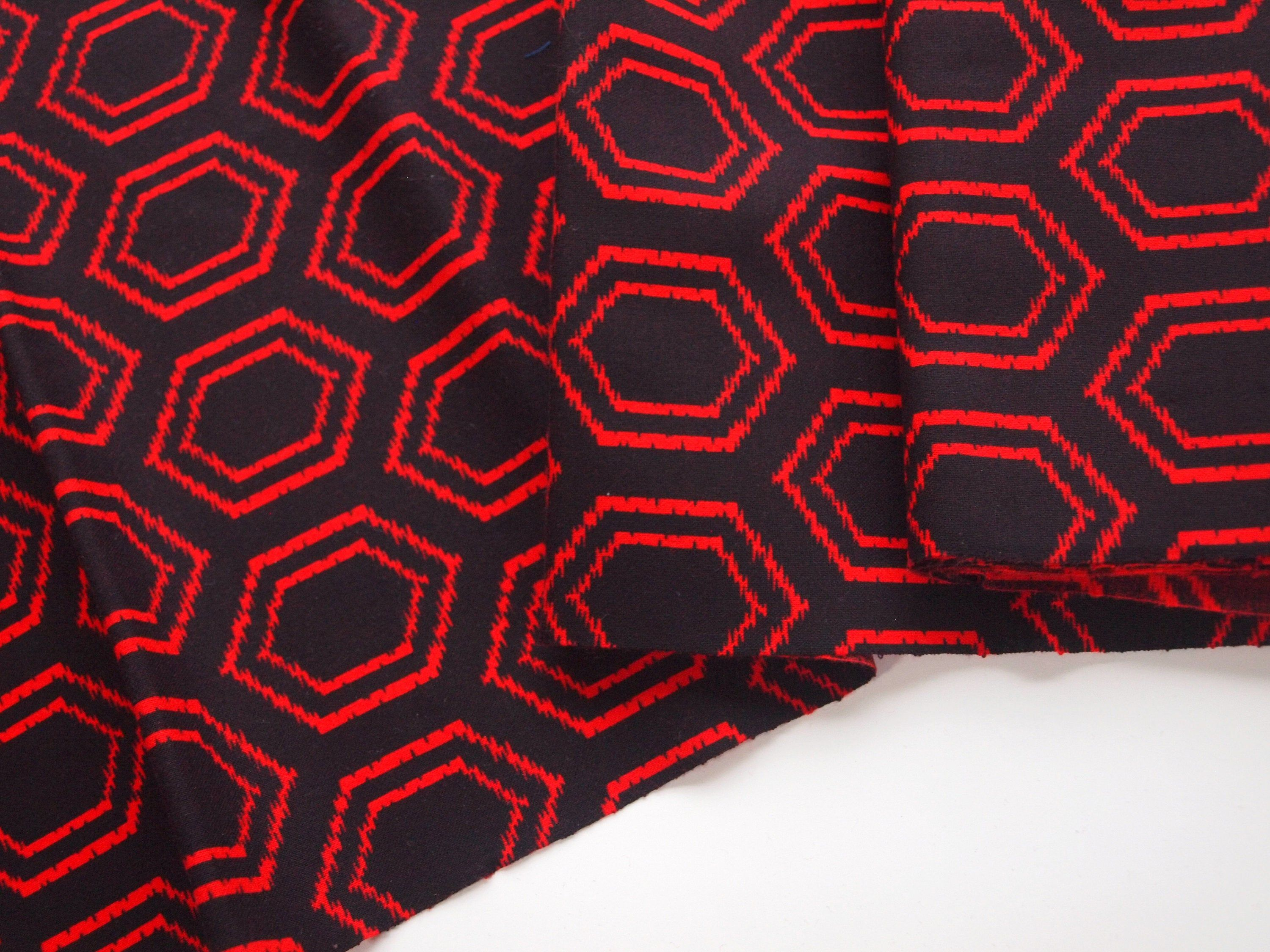 Synthetic Blend Kimono Fabric With A Turtle Shell Pattern Unused Bolt By The Yard In 2020 Shell Pattern Kimono Fabric Fabric