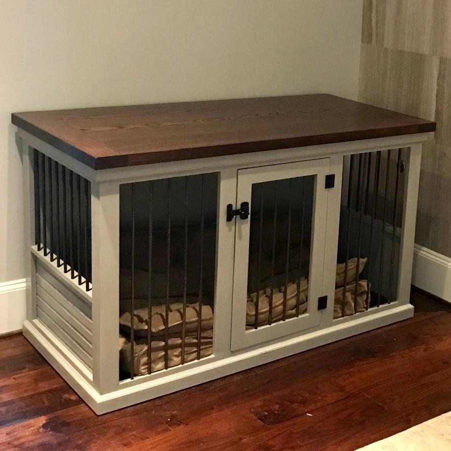 Farmhouse single dog kennel diy dog crate dog crate