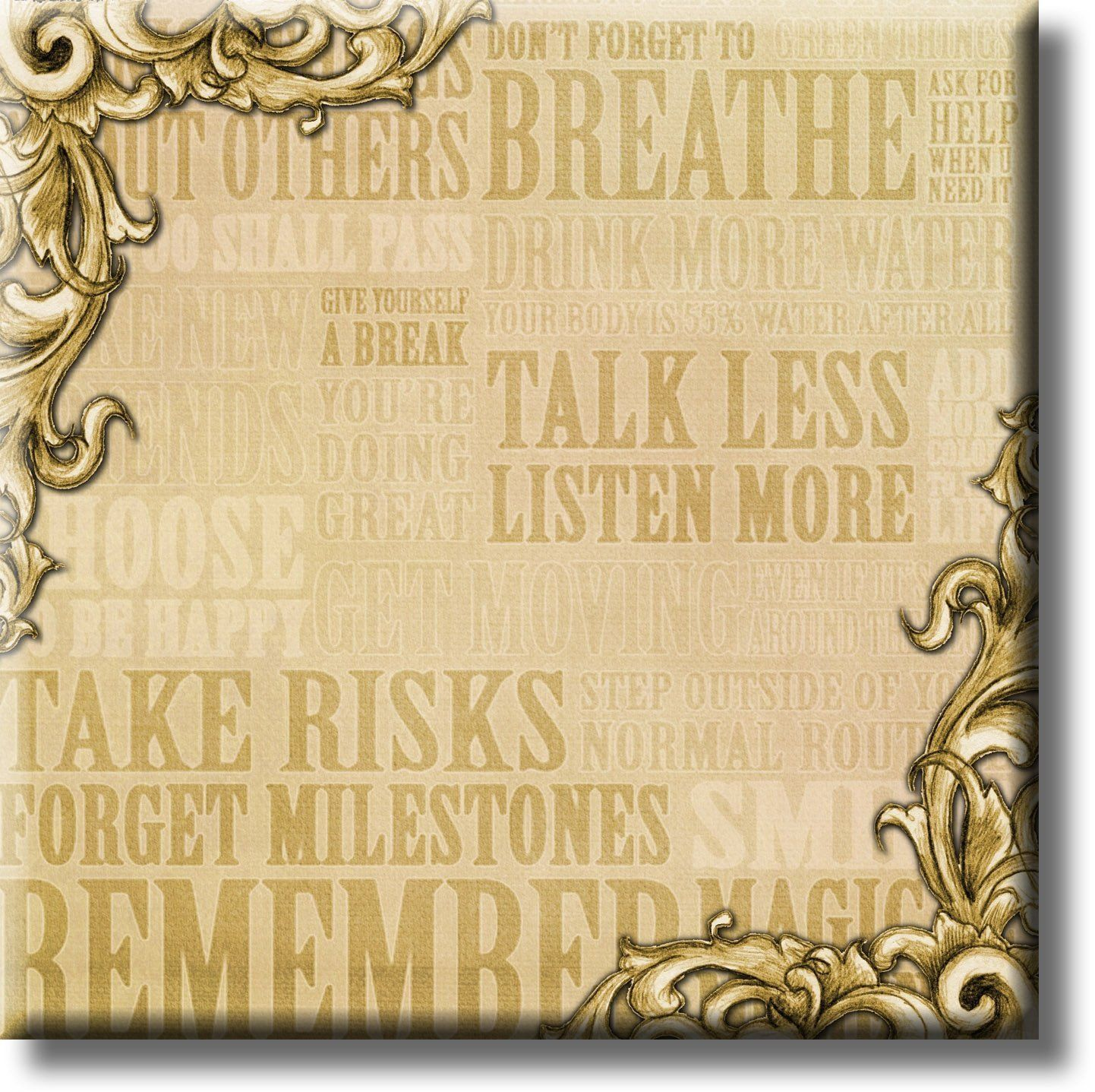 Motivational Message Life Quotes Picture on Stretched Canvas, Wall ...