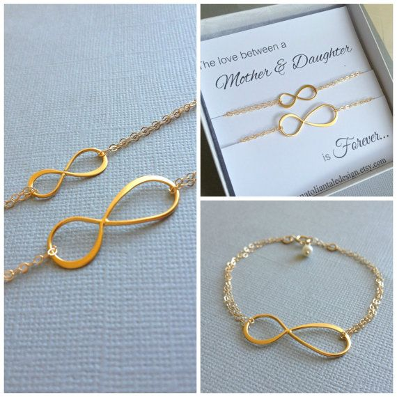 Mother daughter bracelet set infinity jewelry set for Jewelry for mom for christmas
