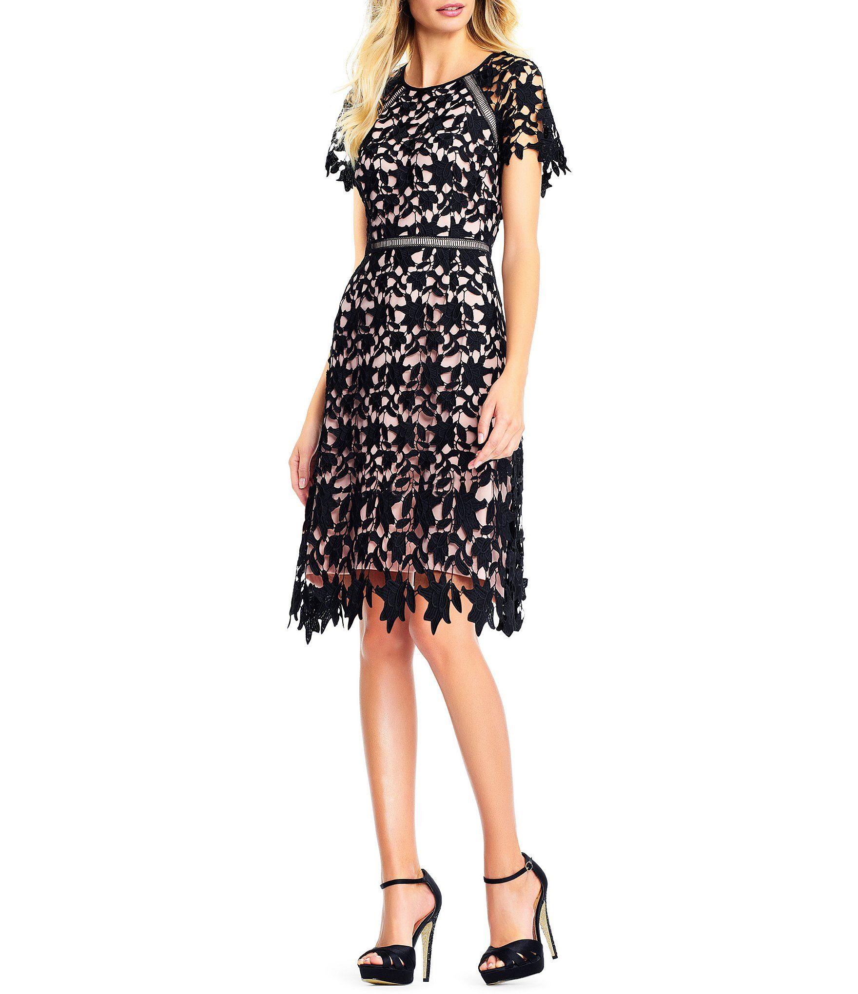 Shop For Adrianna Papell Lace A Line Dress At Dillardscom