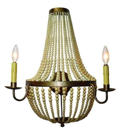Attractive Beaded Two Light Wall Sconce By Dr Livingstone I Presume   Dr Livingstone I Presume  Accessories  Dr Livingstone I Presume Accessories