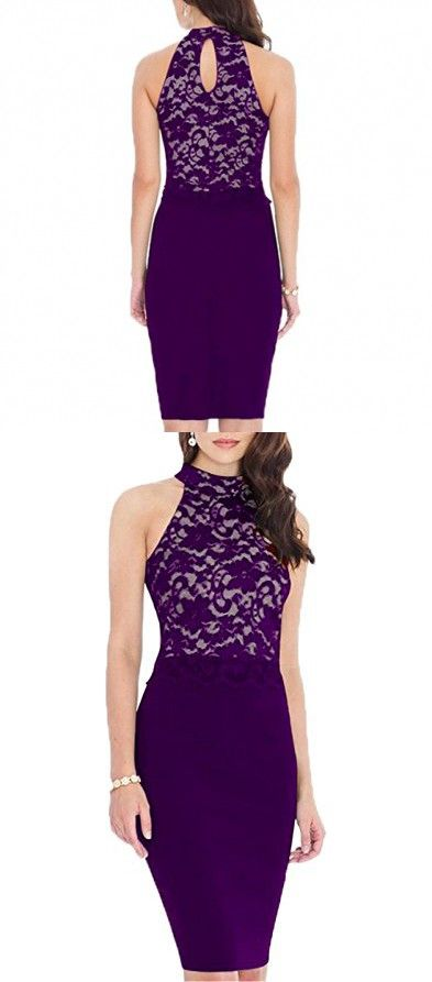 Purple Midi Evening Dresses