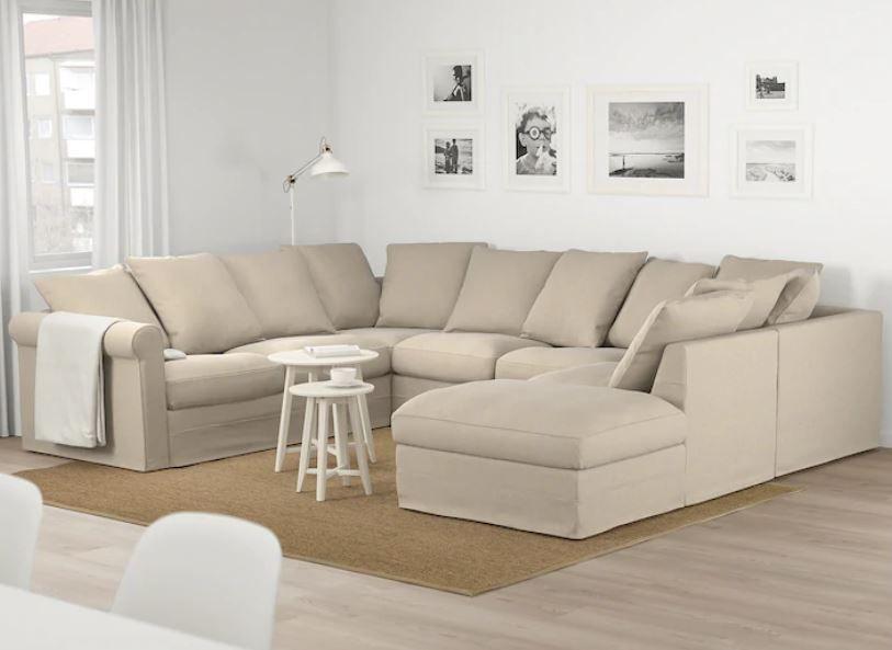 GRÖNLID U-shaped sofa, 6 seat - with open end, Sporda ...