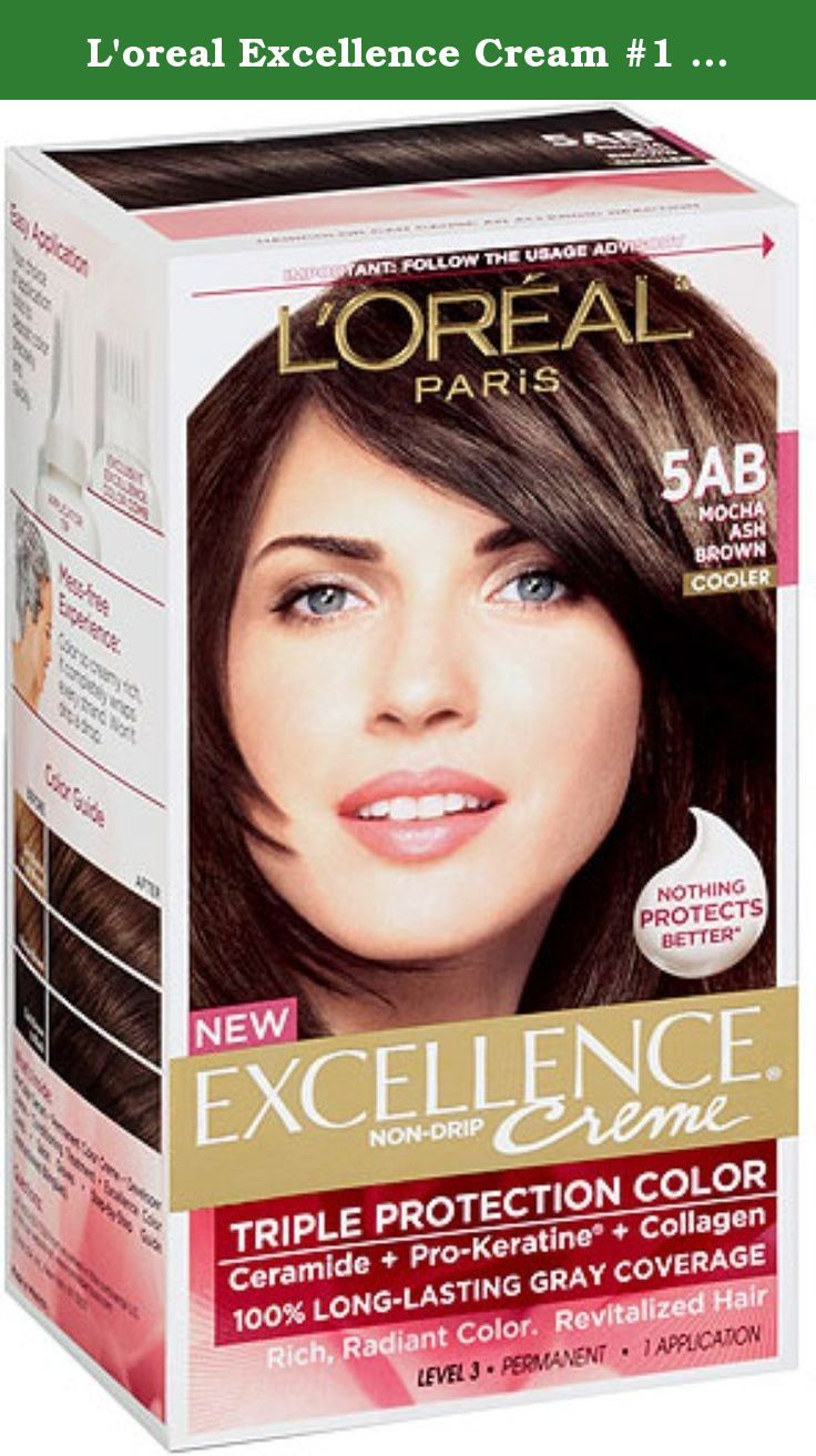 L Oreal Excellence Cream 1 Mocha Ash Brown 5ab Hair Color Pack Of 3 For The Most Up To Date Information Grey Hair Coverage At Home Hair Color Loreal Paris