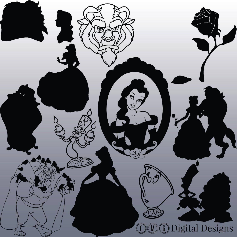 Zoom The Beast Silhouette Disney Silhouette Art Beauty And The Beast Silhouette Beauty And The Beast
