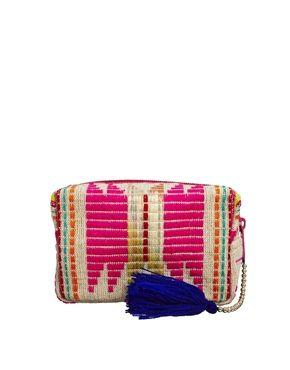 Image 1 of ASOS Makeup Bag In Bright Geo-Tribal