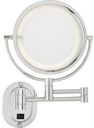 Lighted Wall Mounted Magnifying Mirrors For Bathrooms
