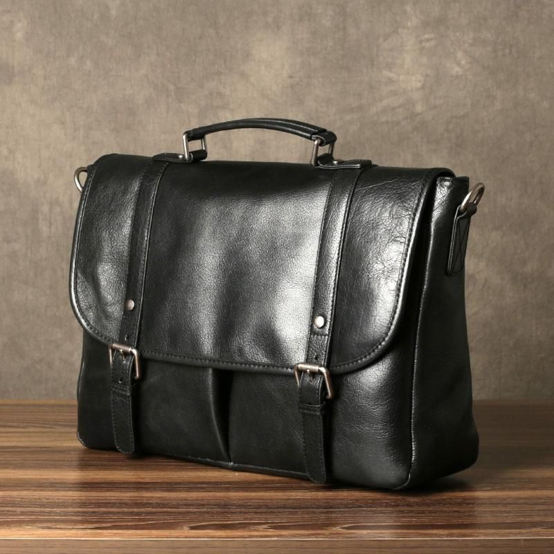 1580885e6459 Genuine Leather Mens Cool Messenger Bag Briefcase Work Bag Business Ba –  iwalletsmen