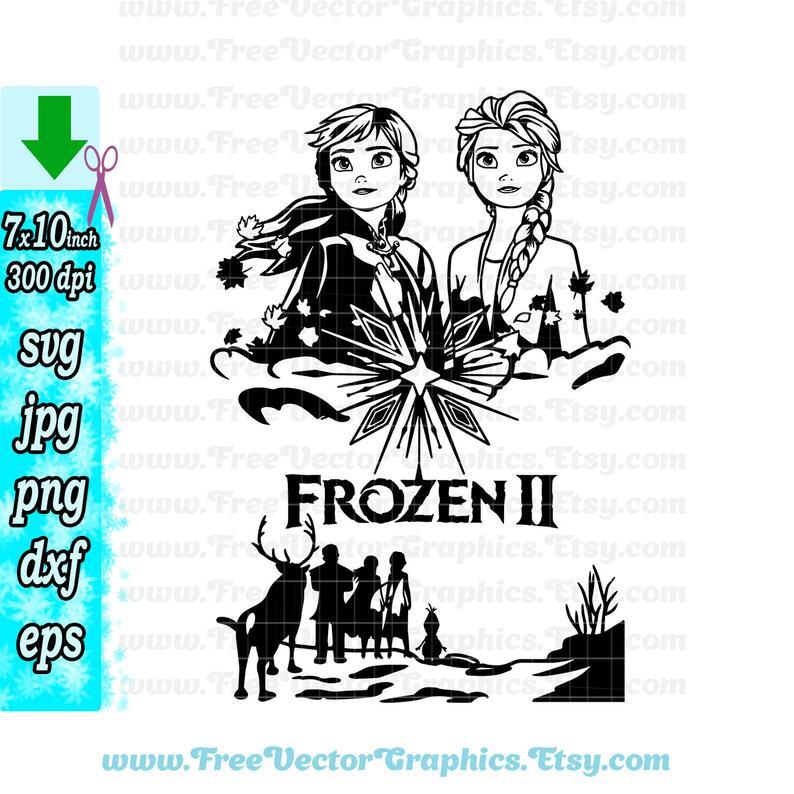 Inspired Frozen Svg Poster Frozen 2 2019 Anna Queen Elsa Olaf Etsy Disney Frozen Vector Graphics Illustrations Clip Art