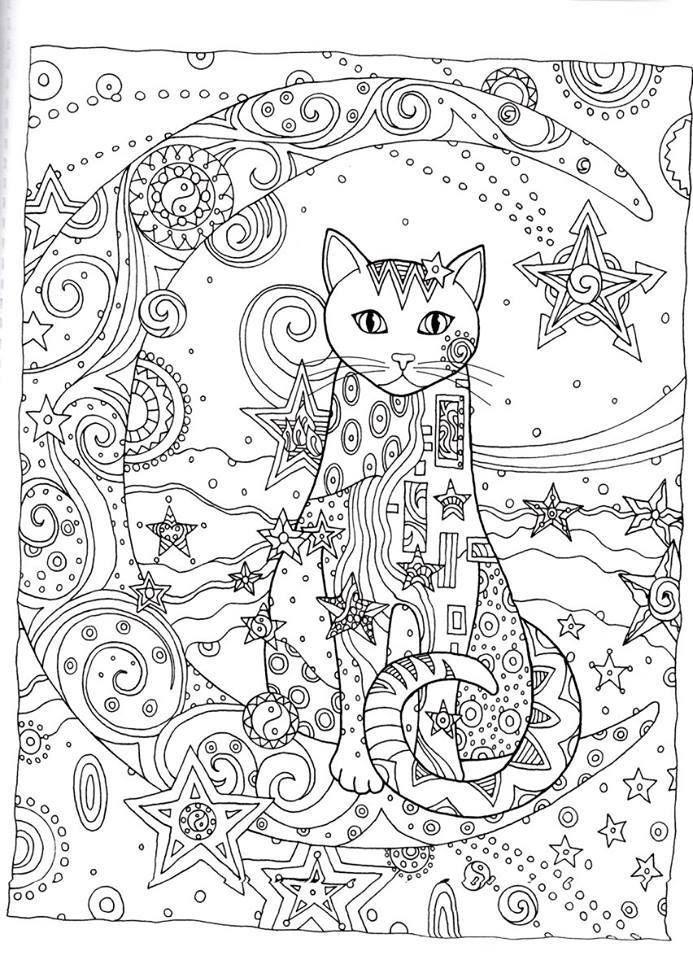 gatos 11 | Técnicas de relajación | Pinterest | Gato, Mandalas y ...