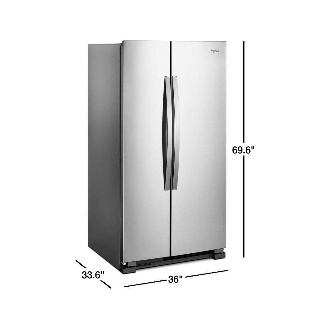 Whirlpool 25 Cu Ft Side By Side Refrigerator In Monochromatic