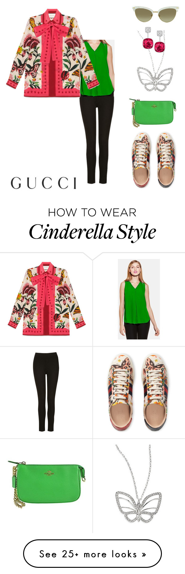 """""""Presenting the Gucci Garden Exclusive Collection: Contest Entry"""" by purplecc88criss on Polyvore featuring Swarovski, Vince Camuto, Gucci and Coach"""