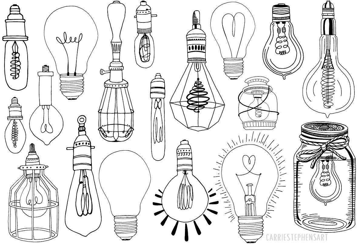 Light Bulb Line Art Png Vector Light Bulb Art Line Art Drawings Light Bulb Drawing