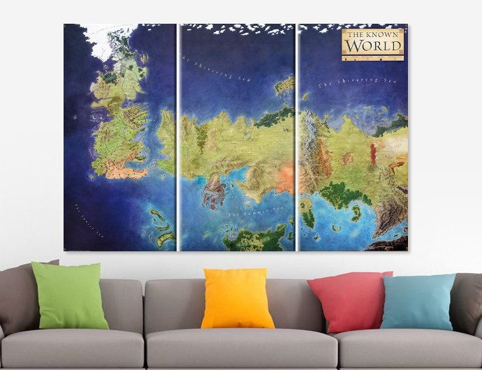 Game of Thrones Old World Map Canvas Game Of Thrones Map Seven - copy rainbow world map canvas