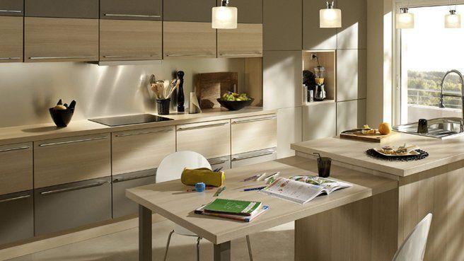Les Cuisines Modernes en bois – Cuisine en bois clair – La cuisine ...