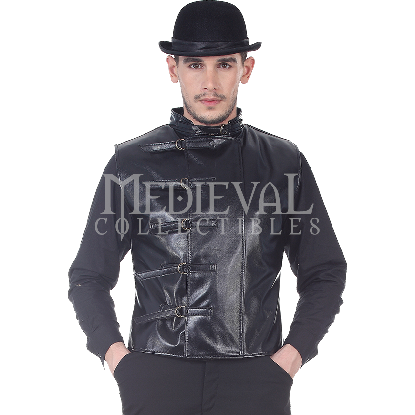 Sleeveless Faux Leather Steampunk Jacket - DC1288 by Medieval Collectibles
