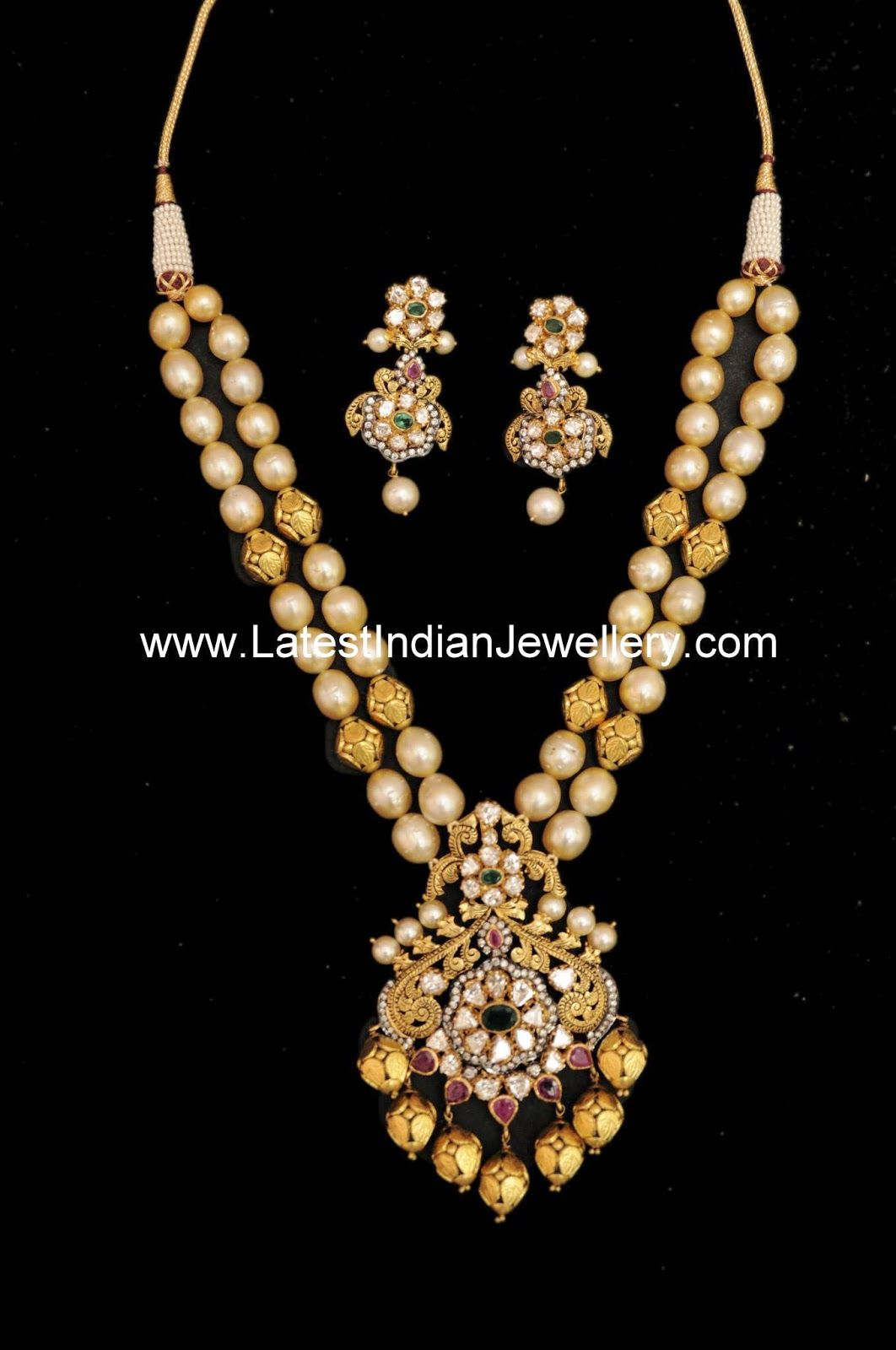 Two stringed pearl gold beads mala royal and regal love it