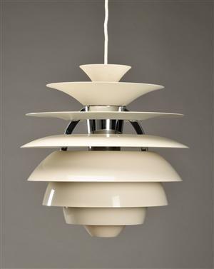 denmark lamp 1958 poul henningsen 1894 1967 lampe design vintage scandinave. Black Bedroom Furniture Sets. Home Design Ideas
