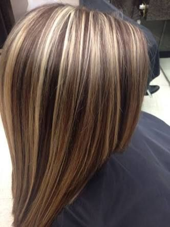 short brown hair with blonde foils  google search  brown