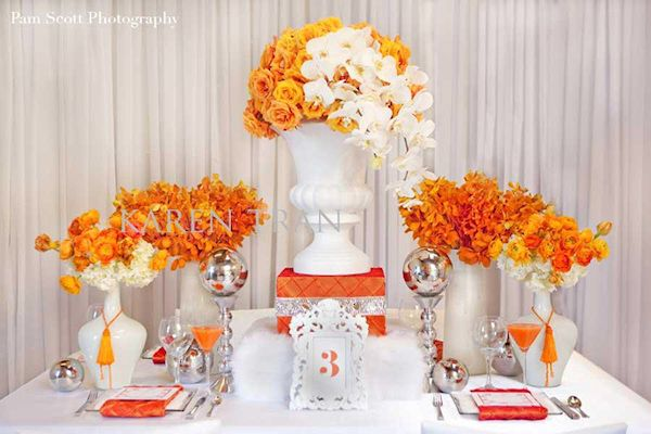 Herrington On The Bay Photo Gallery Orange Centerpieces Table Settings Wedding Table Settings