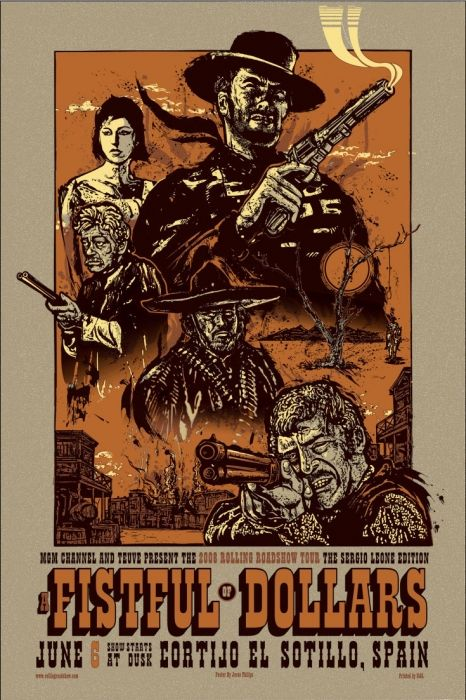Mondo: The Archive | Jesse Philips - A Fistful Of Dollars- Variant, 2008