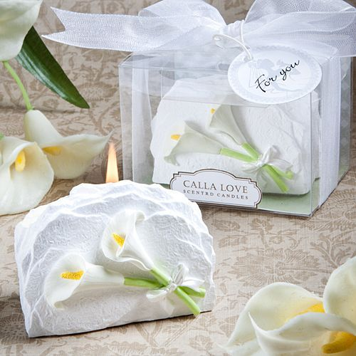 Calla Lily Candle Great Wedding Favor For Theme Weddings Garden Perfect Bridal Showers Each Fl Scented