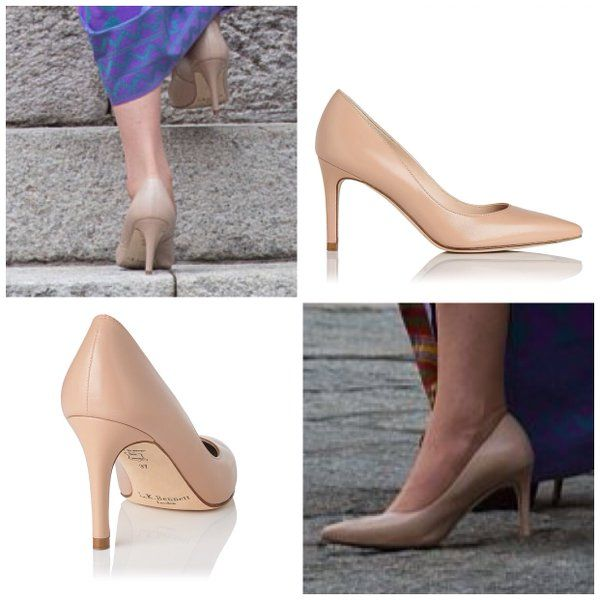 Kate debuted a new pair of LK Bennett pumps for her visit with the King and