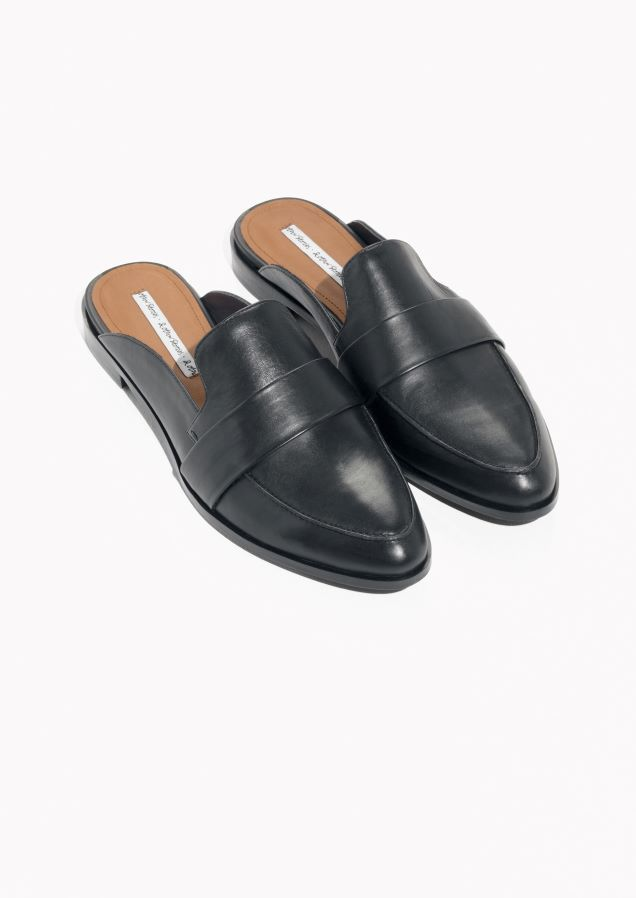 & OTHER STORIES Slip On Leather Loafers GHjB0CiVxM