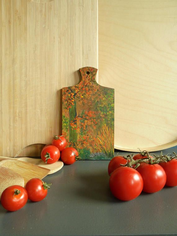 Kitchen decor wall art kitchen wall decor hand painted cutting board ...