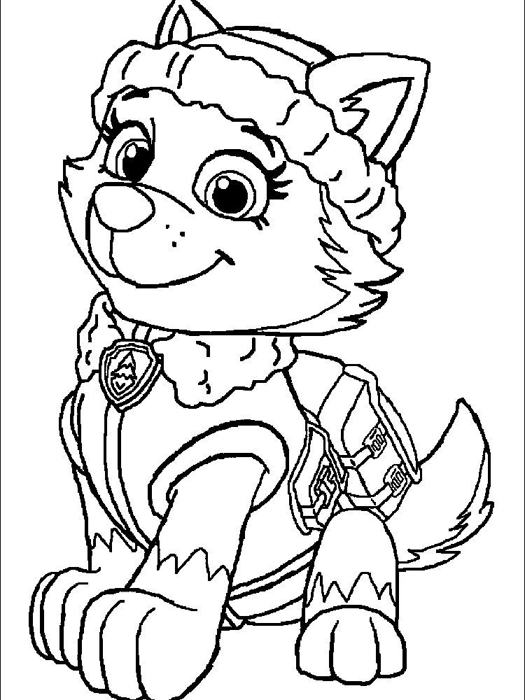 Paw Patrol Coloring Pages The Following Is Our Collection Of Easy