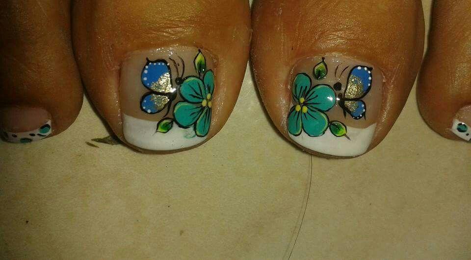 Pin de Roxana Galo en uñas | Pinterest | Pedicura, Uñas pies y ...