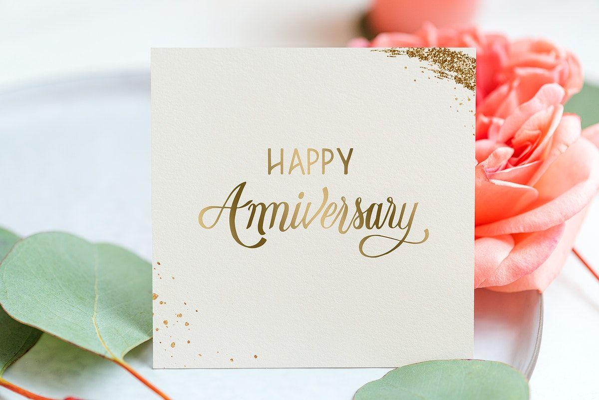 Download Premium Image Of Floral Happy Anniversary Card 2325105 Happy Anniversary Cards Wedding Anniversary Greeting Cards Happy Wedding Anniversary Wishes