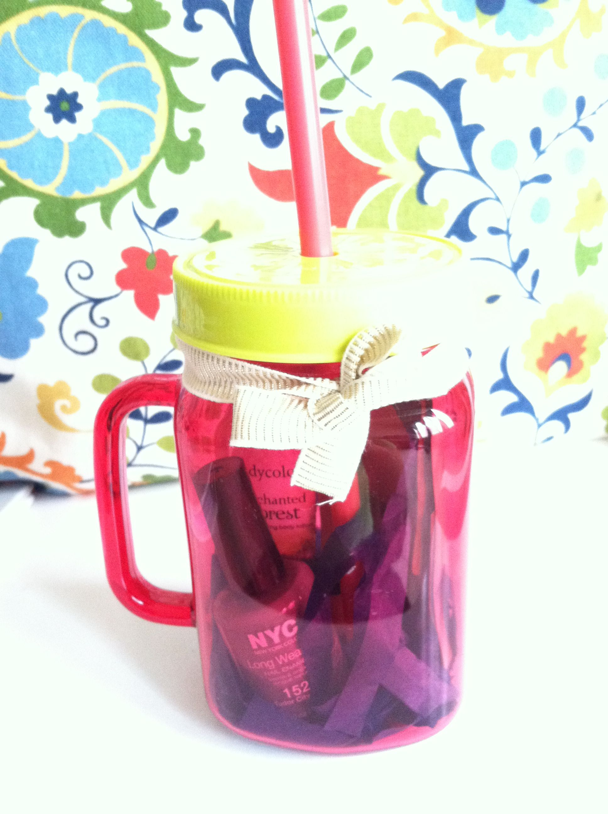 Easy birthday gift cup from target nail polish lotion