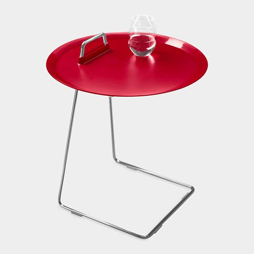 A Side Table That Is Perfect For Small Es The Porter Tray Has C Shaped Supporting Frame Allows It To Be Tucked Over