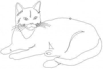 Tiere Katzen Dxf Dwg Downloads Kostenlos Katzen Tiere Malen Und Zeichnen
