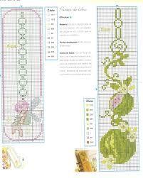 Resultado de imagem para grafico de marcador de livro em ponto cruz