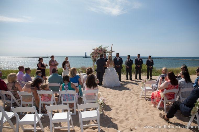 Frankfort Michigan Beach Wedding