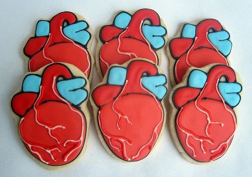 Anatomical Heart Cookies
