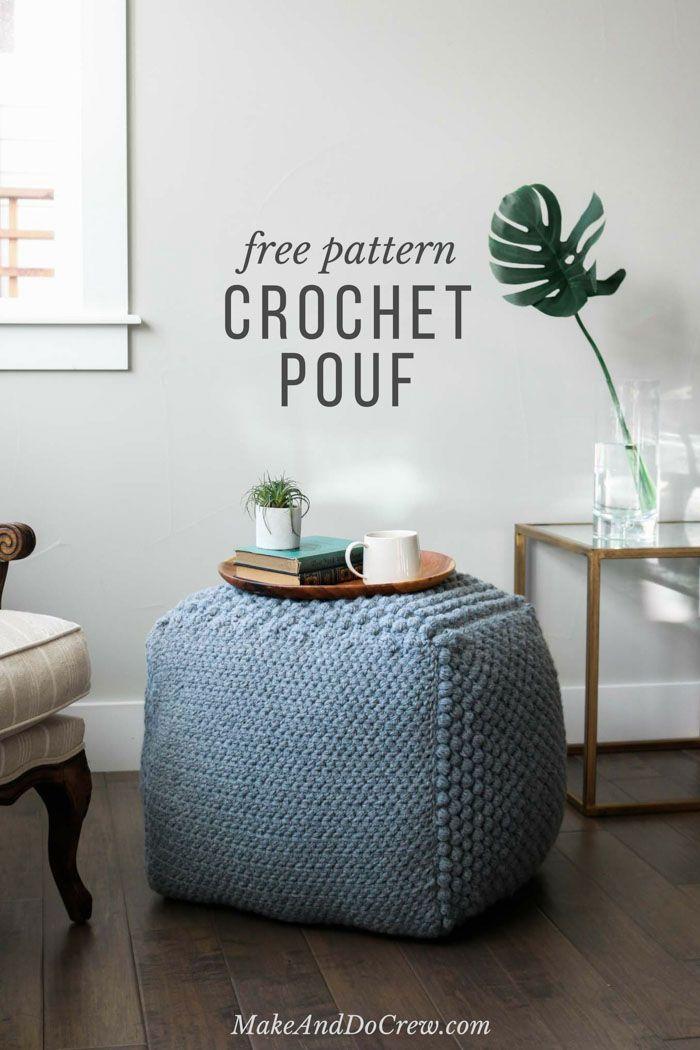 Free Crochet Bean Bag Pattern An Oversized Sampler Pouf Häkeln Best Make Your Own Pouf Ottoman