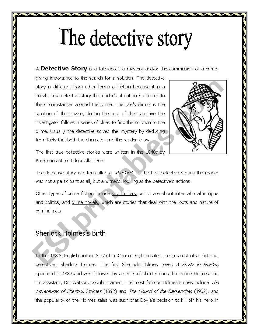A Brief Summary On The History Of Detective Stories With Some Comprehension Questions It Is A Good Kick Off Befor Detective Story Detective Reading Worksheets [ 1086 x 838 Pixel ]