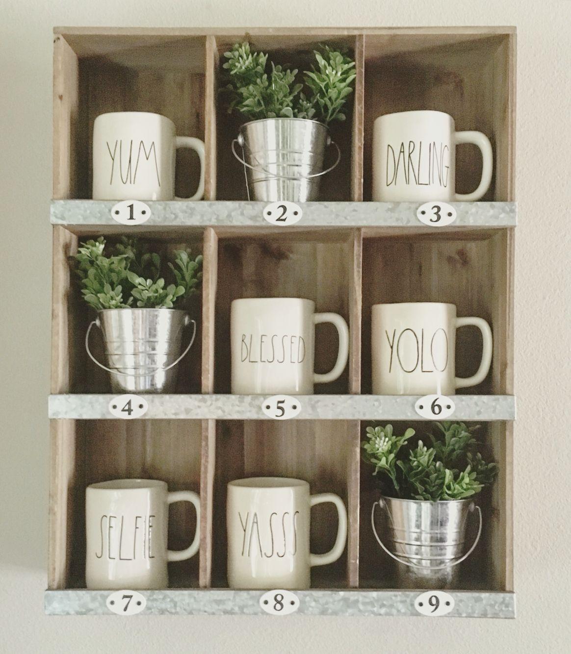 Numbered Mug Cubbie  Dunn, Decor, Coffee mug storage
