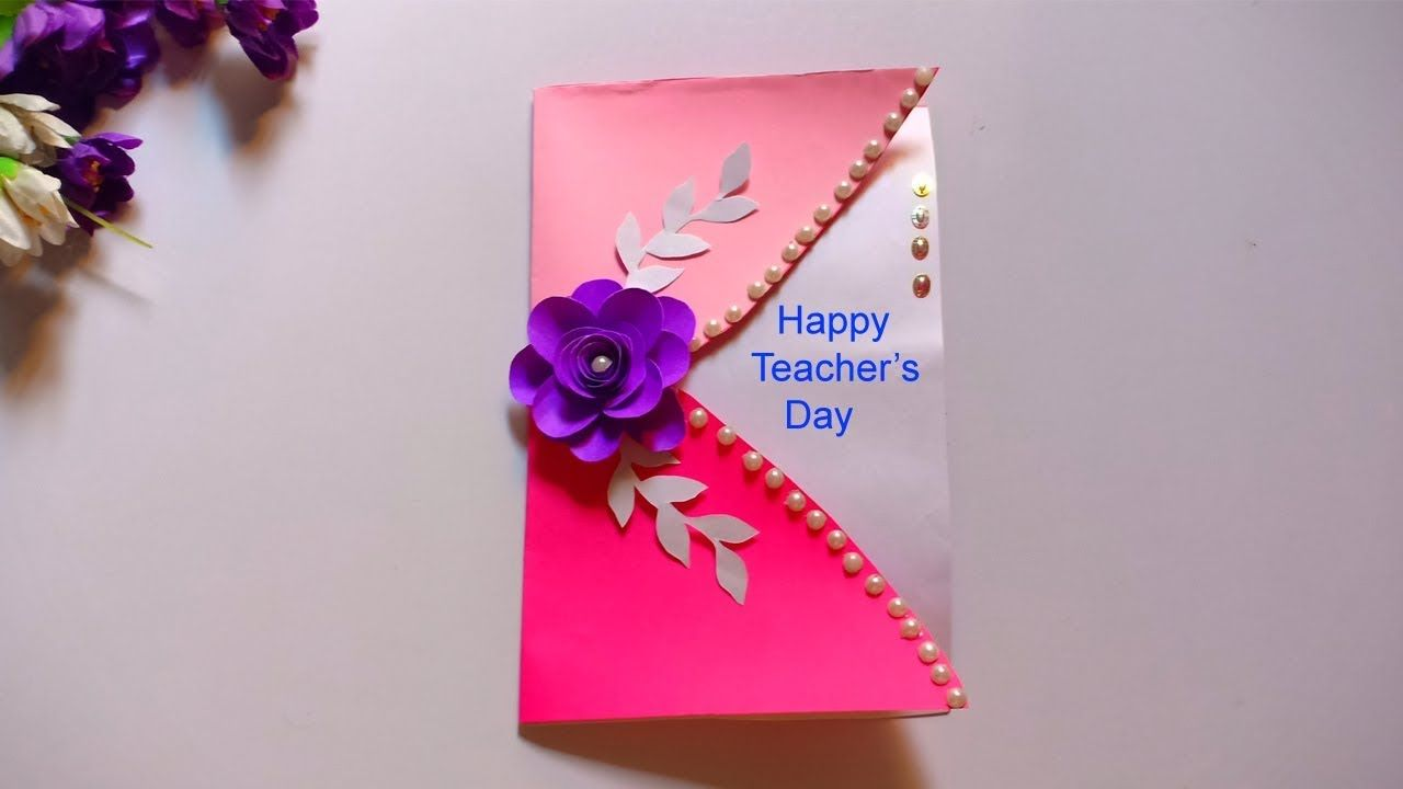 Diy Teacher S Day Card How To Make Greeting Card For Teachers Day Teache Greeting Cards For Teachers Teacher Cards Teachers Day Card