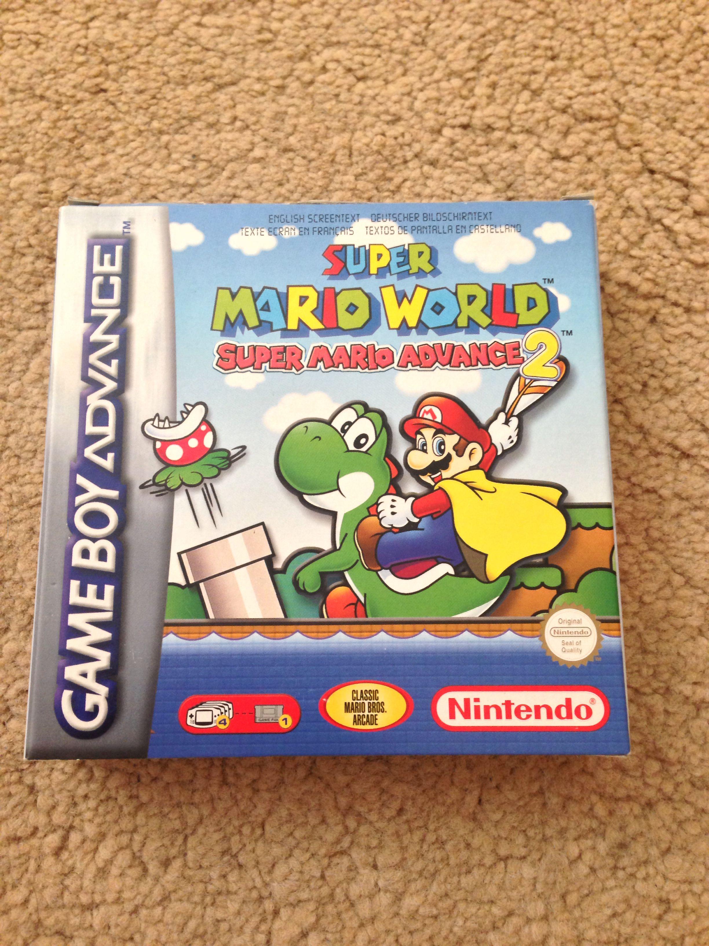 Super Mario Advance 2 Super Mario World For Gba Nintendo Mario