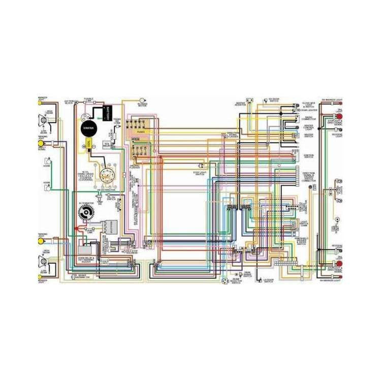 Corvette Color Laminated Wiring Diagram 1953 1981 Chevy Mid