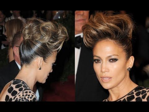 Pompadour Hair Tutorial | How to Get Jennifer Lopez's Updo Hairstyle at the 2013 Met Ball