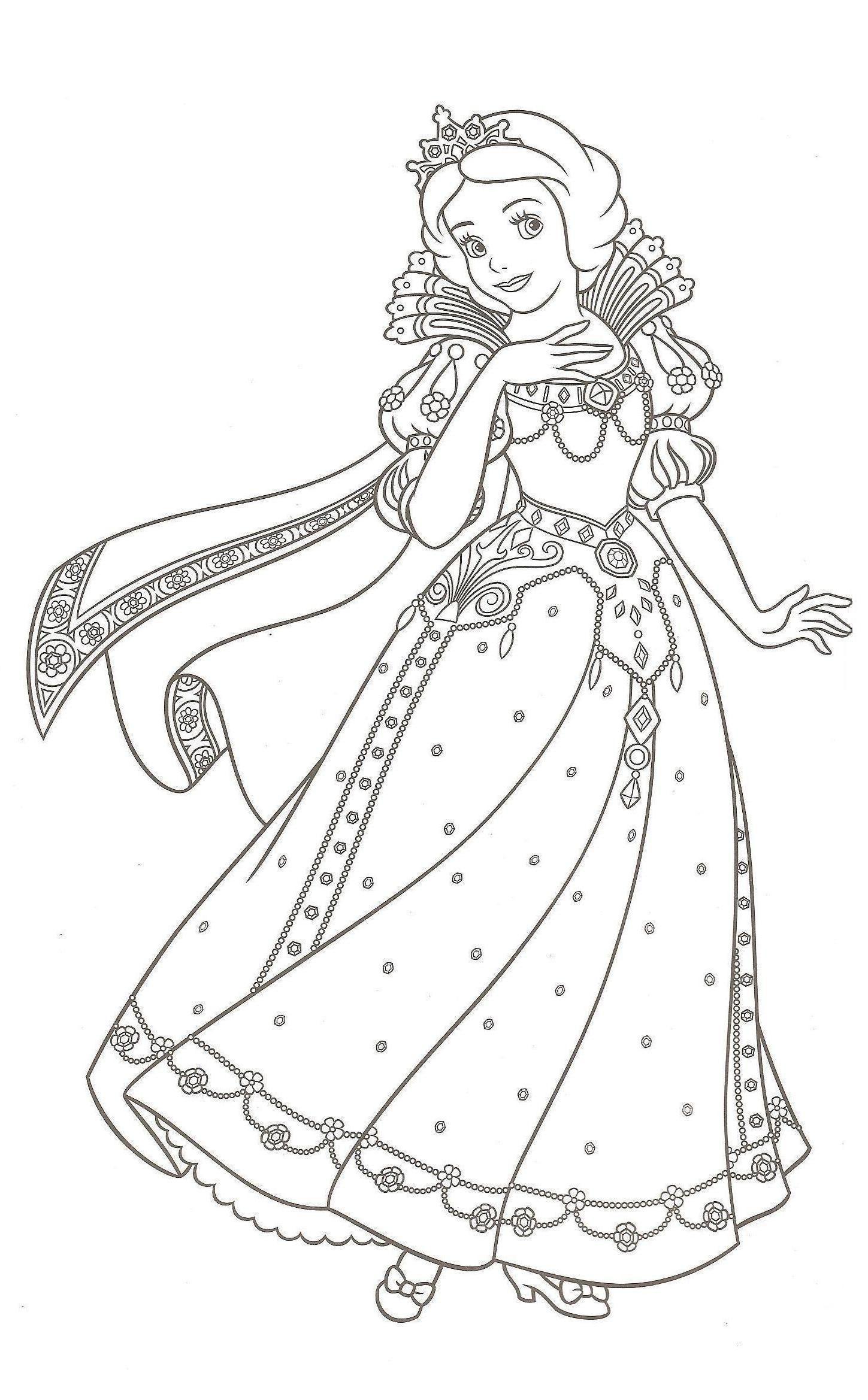 20 Coloriage à Imprimer Noel Princesse  Disney princess coloring